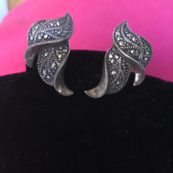 29c19fc31 Jewelry   Vintage Marcasite Clip Earrings   Poshmark